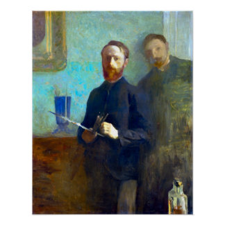 Édouard Vuillard Self-Portrait with Waroquy Poster