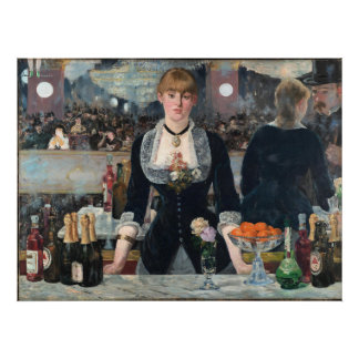 EDOUART MANET - A Bar at the Folies-Bergère 1882 Poster