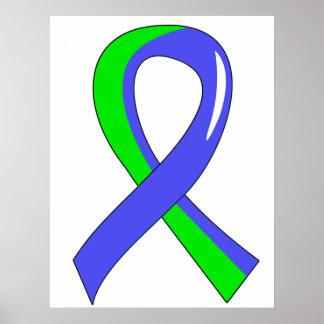EDS Blue Lime Green Ribbon 3 Print