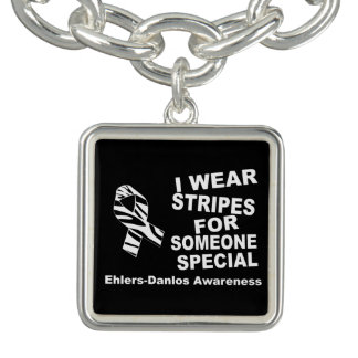 EDS I Wear Stripes Someone Special Charm Bracelet
