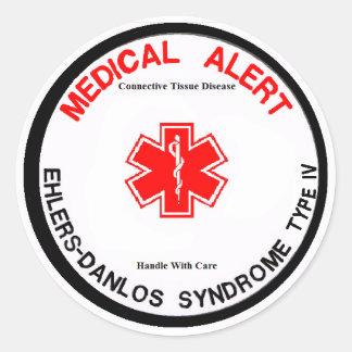 EDS IV Medical Alert Sticker