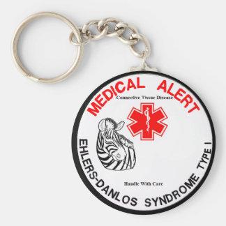 EDS Type 1 Medical Alert with Zebra Keychain