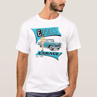 Edsel's Garage in Blue T-Shirt