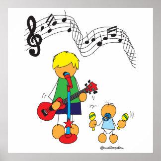 Edu and Sami love music Poster