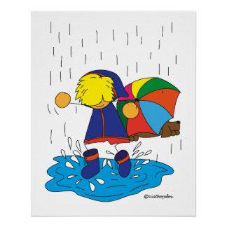 Edu loves puddles poster