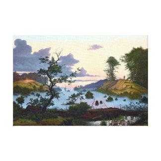 Eduard von Buchan Sunrise over Northern Landscape Canvas Print