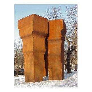 Eduardo Chillida: Buscando la Luz, 1997, Stahl gew Postcard