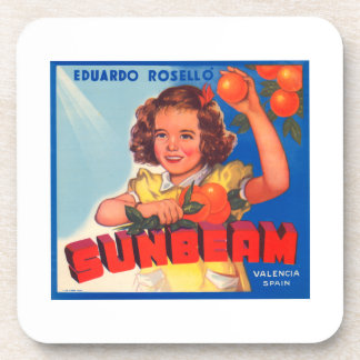 Eduardo Roselli Sunbeam VIntage Crate Label Beverage Coaster