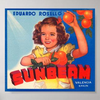 Eduardo Roselli Sunbeam VIntage Crate Label Posters