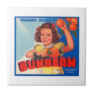 Eduardo Roselli Sunbeam VIntage Crate Label Tile