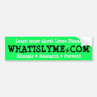 Educate Research Prevent Lyme Disease Awareness Bumper Sticker