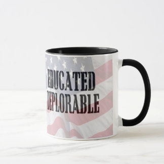 """Educated Deplorable"" coffee cup"