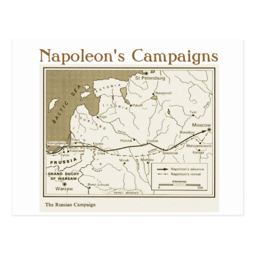 Education, History,  Napoleon, Russian Campaign Postcards