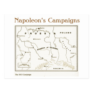 Education, History, Napoleon, The 1813  Campaign Postcard