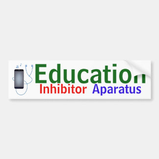 """Education Inhibitor Aparatus"" sticker"