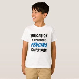 'Education is important' T shirt for kids