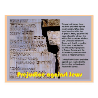 Education,  Judaism, Prejudice against Jews Postcard
