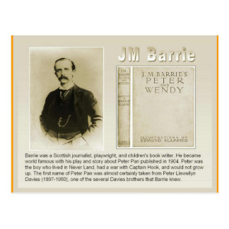 Education, Literature, JM Barrie, Peter Pan Postcard