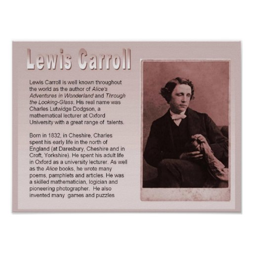 Education, Literature, Lewis Carroll Poster
