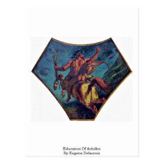 Education Of Achilles By Eugene Delacroix Postcard