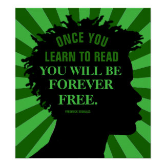 """Education Quote by Frederick Douglass 18""""X20"""" Poster"""