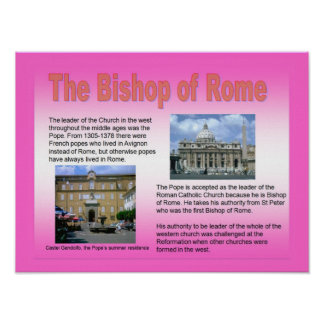 Education, Relgion, Roman Catholic, Bishop of Rome Posters