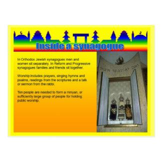 Education, Religion, Inside a Synagogue Postcard