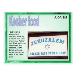 Education, Religion, Judaism, Kosher Food Postcard