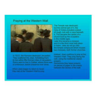 Education,  Religion,  Judaism, western wall Postcard