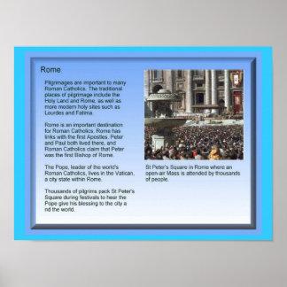 Education, Religion, Pilgrimage, Rome Posters