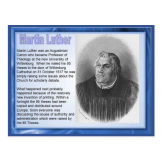 Education, Religion, Reformation Martin Luther Postcard