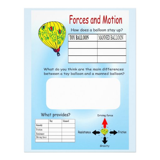 Education, Science, Forces and Motion, Balloons Full Color Flyer
