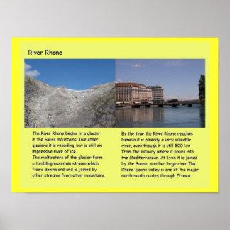 Education Science Geography Rhone Glacier Print