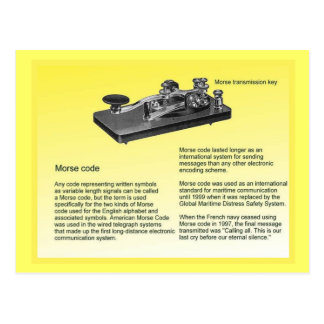 Education, Science,  Transmitting Morse Code Postcard