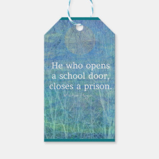 Education teacher teaching quote Victor Hugo Gift Tags