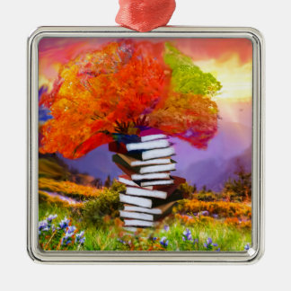 Education will always be the basis of any success metal ornament