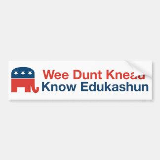 Edukashun - Bumper Sticker