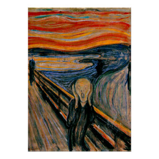 Edvar Munch - The Scream Poster
