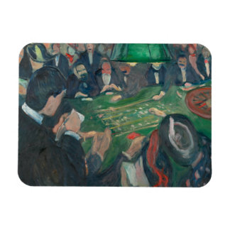 Edvard Munch - At the Roulette Table Rectangular Photo Magnet