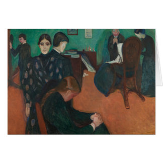 Edvard Munch - Death in the Sickroom Card
