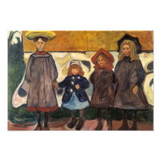 Edvard Munch - Four Girls in Asgardstrand Photo Print
