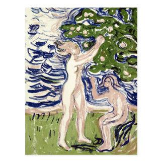 Edvard Munch Girls Picking Apples Postcard