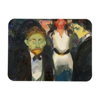 Edvard Munch - Jealousy Rectangular Photo Magnet