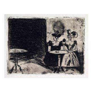 Edvard Munch Night Cafe Postcard