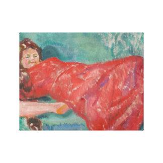 Edvard Munch - On the Sofa Canvas Print