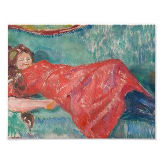 Edvard Munch - On the Sofa Photo Art
