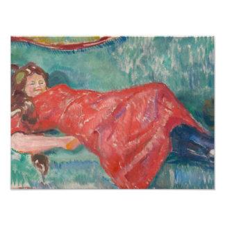 Edvard Munch - On the Sofa Photograph