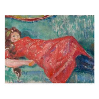 Edvard Munch - On the Sofa Postcard