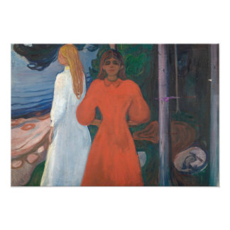 Edvard Munch - Red and White Photographic Print