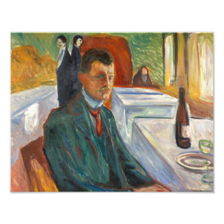 Edvard Munch - Self-Portrait with a Bottle of Wine Photograph
